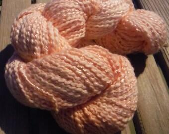 CHUNKY Weight Yarn - Peach Cotton Blend - Cotton Blossom by Farmhouse - Big 4 oz skeins 200 yards