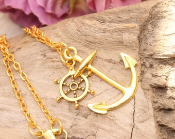 Anchor Necklace, Nautical , Scene, Hipster, Sea Shore Wear , Handmade By: Tranquilityy
