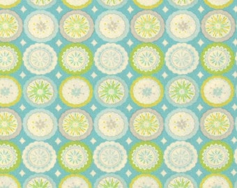 Dena Designs - KUMARI GARDEN - Lalit in Blue - 1 Yard - Cotton Fabric