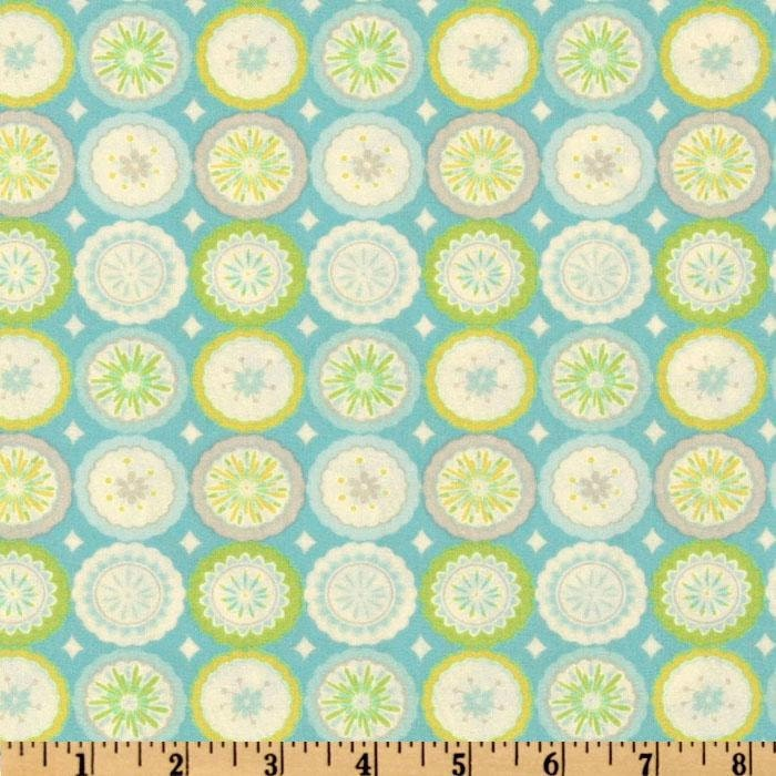Dena designs kumari garden lalit in blue 1 yard cotton for Kumari garden fabric by dena designs