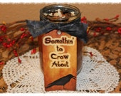 BAKED APPLES Scented Primitive Crow Fall Canning Jar Candle- Highly Scented