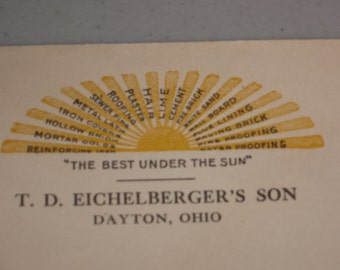 Dayton, Ohio T.D. Eichelberger's Son Printed Envelope with Stamp Dated 1932 GREAT LOGO