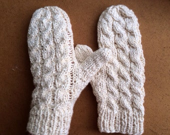 Organic Cotton Cable Mittens