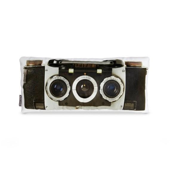 Stereo 3D Camera Printed Pillow