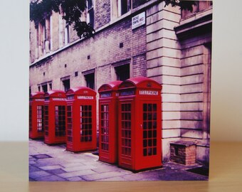 Red Telephone Boxes Photo Block