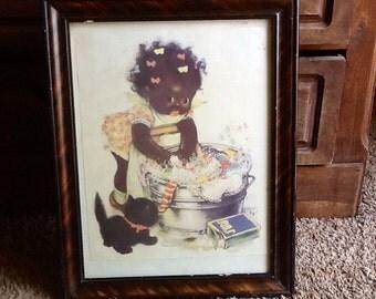 Black Americana Framed Print Charlot Byj Soap Girl
