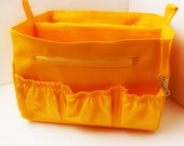 Purse insert fits MZ Wallace Large tote metro- Diaper Bag organizer in Sunflower Yellow fabric
