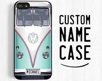 Volkswagen Bus iPhone 6 Case, Monogrammed VW Van iPhone 7 6 Plus Case, Retro iPhone 5 5C 5S 4s, Samsung Galaxy S3 S4 S5, Note 3 Case NP17a