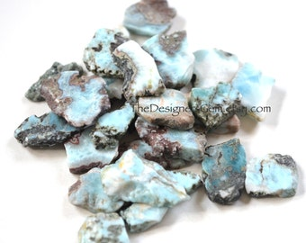 NEW - NATURAL LARIMAR Slice Nugget Loose Stone Cabochon Specimen 34-40mm - Perfect for Wire Wrapping!