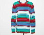 Vintage Sweater Retro Stripes Preppy Pandora