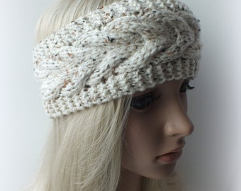 Handmade Knit Cable Headband, Headwrap, Ear Warmer 100% Acrylic 7 Colors