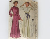vintage 30s sewing pattern McCall 9052 beach bath lounging robe