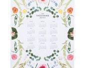 2015 Scandinavian floral calendar