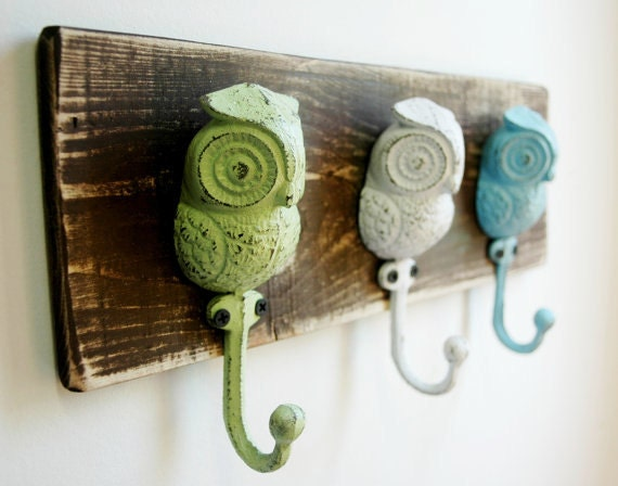 Owl Wall Decor Coat Rack Owl Hooks Kitchen By