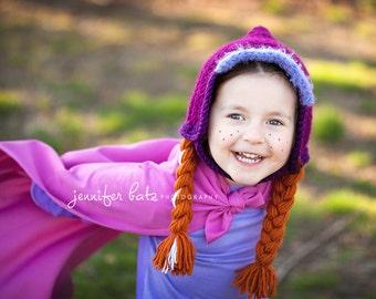Frozen Inspired Anna Hat Pattern 12-18 Months