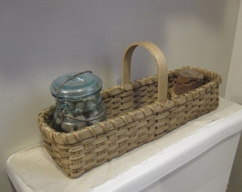 Farm House Decor, Bathroom Storage, Catchall Basket, Farmhouse Chic, Desk Organizer, Cottage Chic, 1803 Ohio Farm Baskets, Rustic Home
