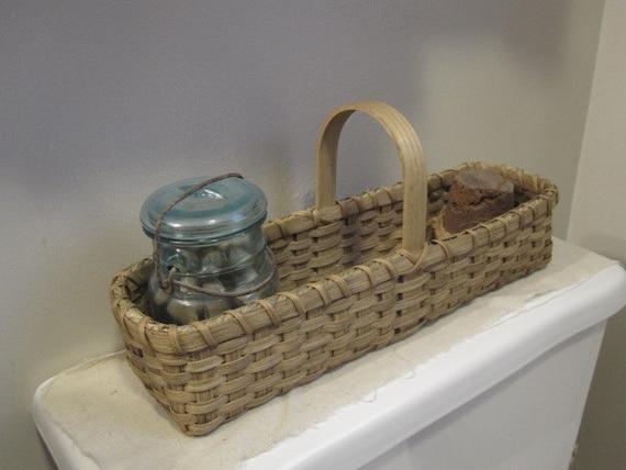 Farm house decor bathroom storage catchall basket farmhouse for Bathroom accessories baskets