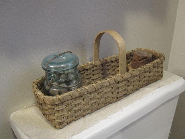 Farm house decor bathroom storage catchall basket farmhouse for Basket bathroom accessories