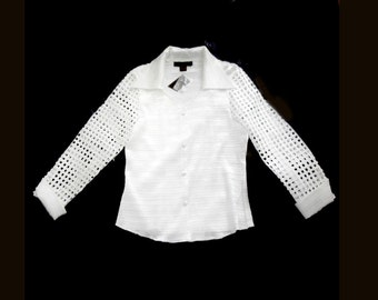 Vintage Lattice Blouse Size Large