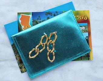 90s Bamboo Drop Gold Earrings Chain Pierced