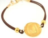 Fingerprint Gold Circle Bracelet