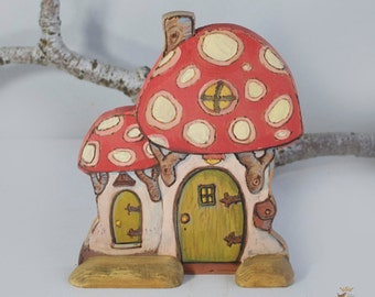 Willodel Playscape Mushroom House with flat back