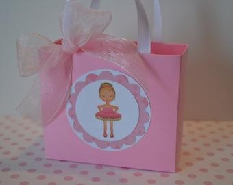 Ballerina party favor bags