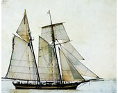 ship photography, sail boat, sailing, ocean, textures, nursery art