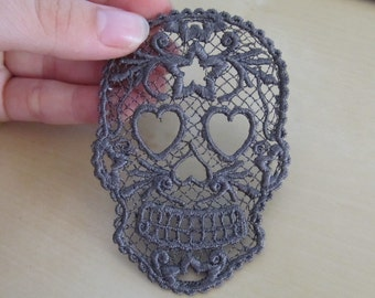 FSL, Free standing lace Day of the Dead Skull, Calavera - embroidery designs 4x4 INSTANT DOWNLOAD