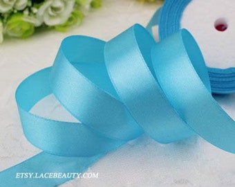 Brigh Skyblue Ribbon Terylen Lace Trim 0.78 Inch Wide 22 meters