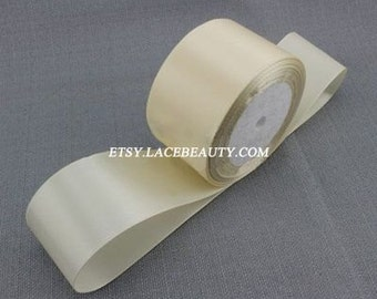 Ivory Ribbon Terylen Lace Trim 1.96 Inches Wide 22 meters