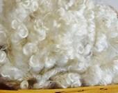 1 oz 6 inch Washed White Wensleydale Locks, Curly Locks, Doll Hair, Santa Beards, Felting, Fiber Art, US grown, Lockspun, Blythe Doll Reroot