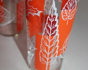 Tumbler, Glass, Drink, Block, Orange