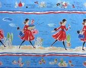Japanese Fabric Cotton Yuwa - Suzuko Koseki - Enjoy Shopping - 1 Panel