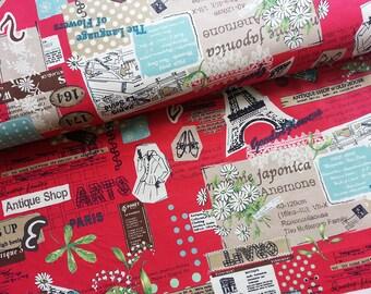 Retro Japanese Fabric Cotton Yuwa - Suzuko Koseki - Antique Shop - a yard