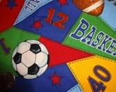 Sports Fabric Soccer Basketball Football Baseball Pennant 1 1/2 Yard