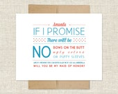 Will You Be My Maid of Honor? Customizable Card