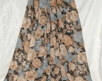 "PRICE REDUCED: Roses Floral Semi-Sheer Cotton Voile Dressmaking Fabric  4+ Yards and 44"" Wide - Priced for ALL"
