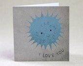 Anniversary or Valentines Day I Love You Card