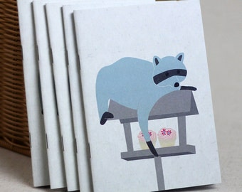 Small Sneaky Racoon Notebook