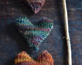 Knitted Heart Knitting PATTERN ONLY DIY heart garland heart sachet knit handwarmers
