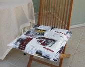 Eiffel tower Paris New York London print pop art decoration pillow cover  20 inch chair pillow - custom curtain panel available