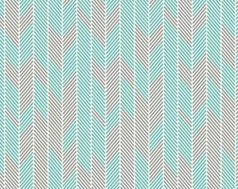 1 Yard Minimalista Darts Turquoise by Art Gallery Fabrics In-House Studio