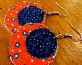 SALE! ALTERED COUTURE Featured Upcycled Earrings, orange crush - Handmade, recycled, one-of-a-kind