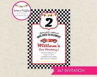 DIY, Race Car INVITATION