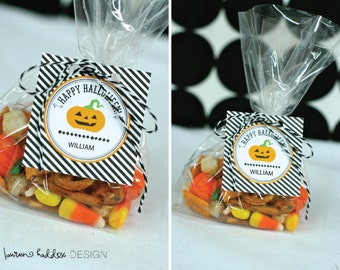 DIY, Personalized Happy Halloween favor tags