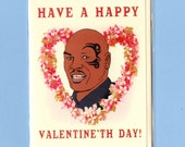 MIKE TYSON VALENTINE - Funny Valentine Card - Funny Valentine - Valentine Day Card - Funny Card - Pop Culture Card - Mike Tyson - Item# V022