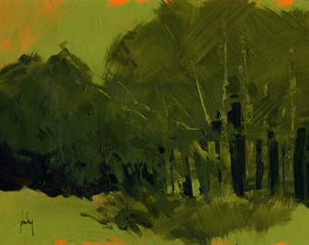 Original abstract tree painting - Concealment