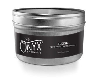 Buddha - Cedarwood, Citrus and Sage - 4 oz. Tin Soy Wax & Essential Oil Candle