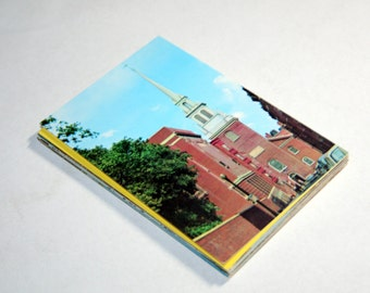 25 Vintage Massachusetts Chrome Postcards Blank - Wedding Guestbook